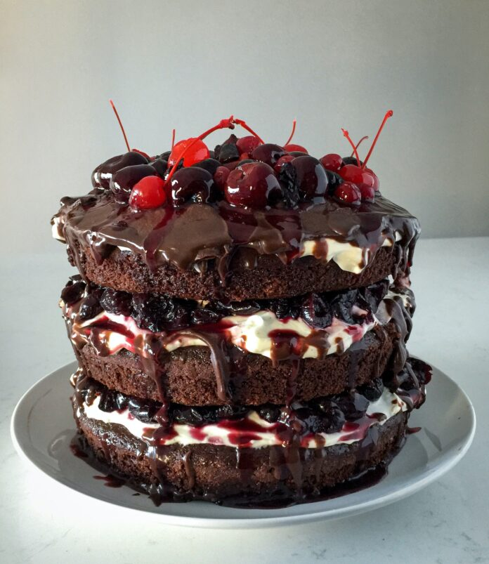 Chocolate Cherry Pie Filling Cake